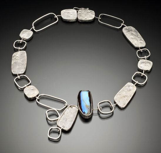 Necklace lori gottlieb boulder opal argentium silver for Jewelry stores boulder co
