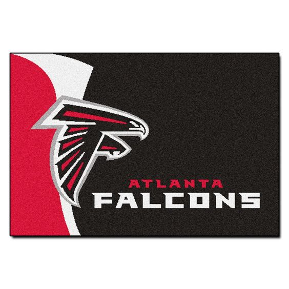 Welcome mat or accenting a room, the Falcons area rug swoops in on the competition.