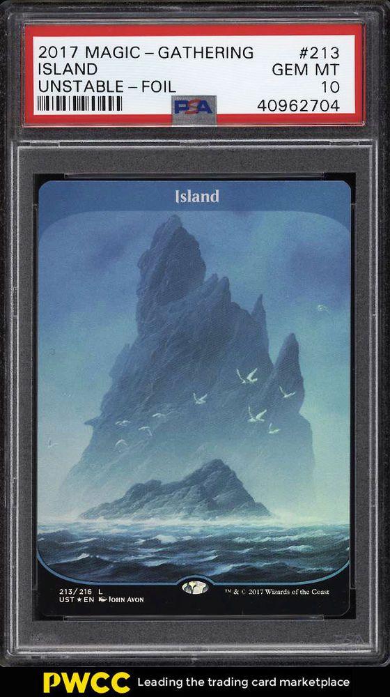 Island Full Art Foil 213//216 Near Mint UST MTG Unstable