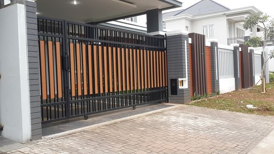 40 Spectacular Front Gate Ideas And Designs Renoguide Australian Renovation Ideas And Inspiration House Gate Design Front Gate Design Gate Design