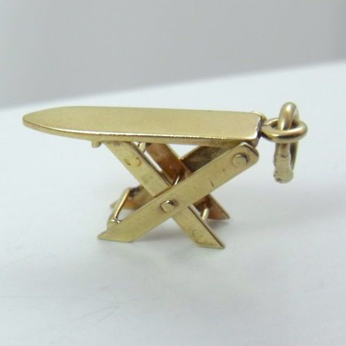 14k Yellow Gold 3D Folding Ironing Iron Board Charm Pendant 1 3gr | eBay..: