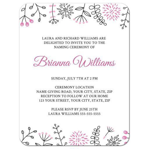 Baby Naming Ceremony Invitation  Graphic Design