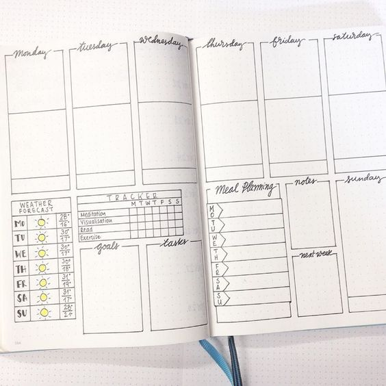 I think I like this weekly spread better than a vertical one.