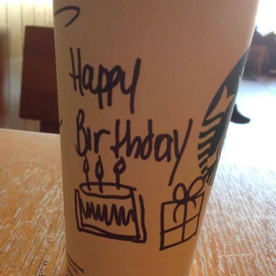 Free Birthday Starbucks ~ Birthday drinks starbucks and free on pinterest