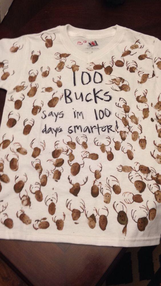 Bo's 100 day of school shirt!