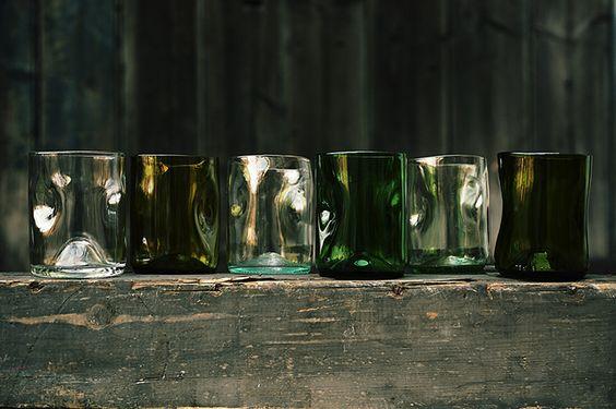 Glasserie v. Jesper Jensen. Recycelte Weinflaschen Danish design - made in Berlin