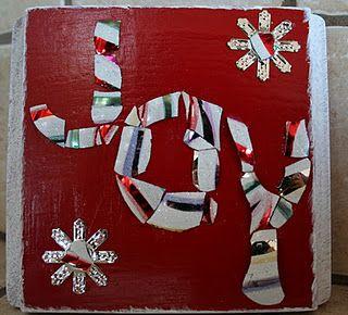 Upcycled Christmas Ornament