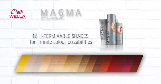 Wella Professionals Magma By Blondor 16 Intermixable Shades.