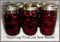 Five Simple Things: Canning Pickled Red Beets - Printable Recipe
