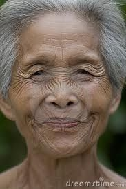 Faces of older Thai women