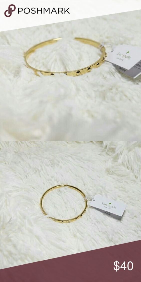 NWT KATE SPADE GOLD BANGLE New - authentic Kate Spade earrings with original tag Color: gold No scratches Dust bag is included Bundle 2+ items to save your $$ on shipping Kate Spade Jewelry Bracelets