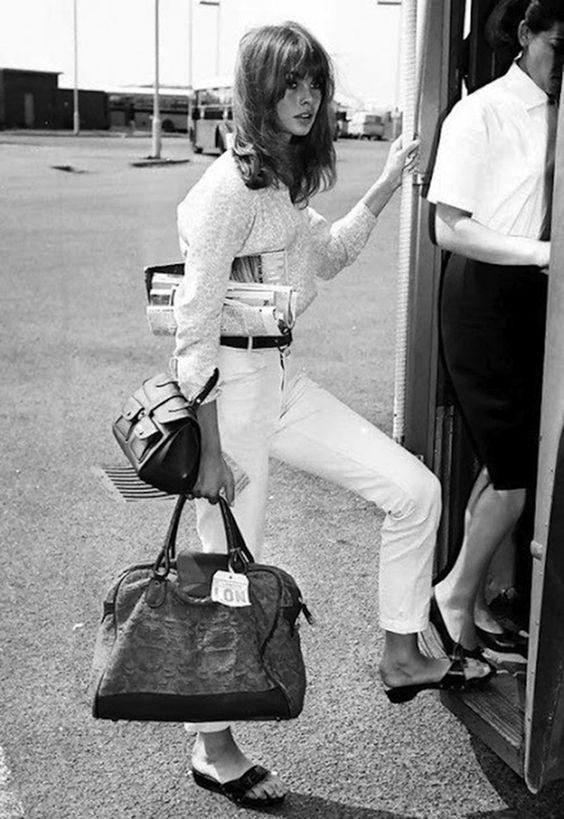 Jean Shrimpton going away in style