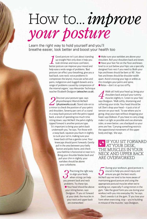 thinspo-ration:  healthydreams:  good posture helps burn calories and strengthens your back muscles!  And it also helps yo not get a bad spine when you get older, and helps to not get a hunch back or any other spinal problems (those can look/get really ugly, and itll hurt) Do these little things now, so you can even look good when your older too :D