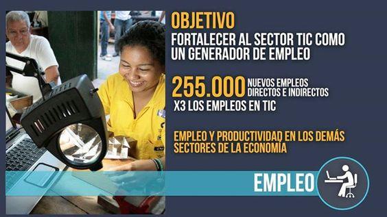 Con la generación de 255.000 nuevos empleos directos e indirectos crece el sector #TIdeColombia - http://on.fb.me/1LkHOF4