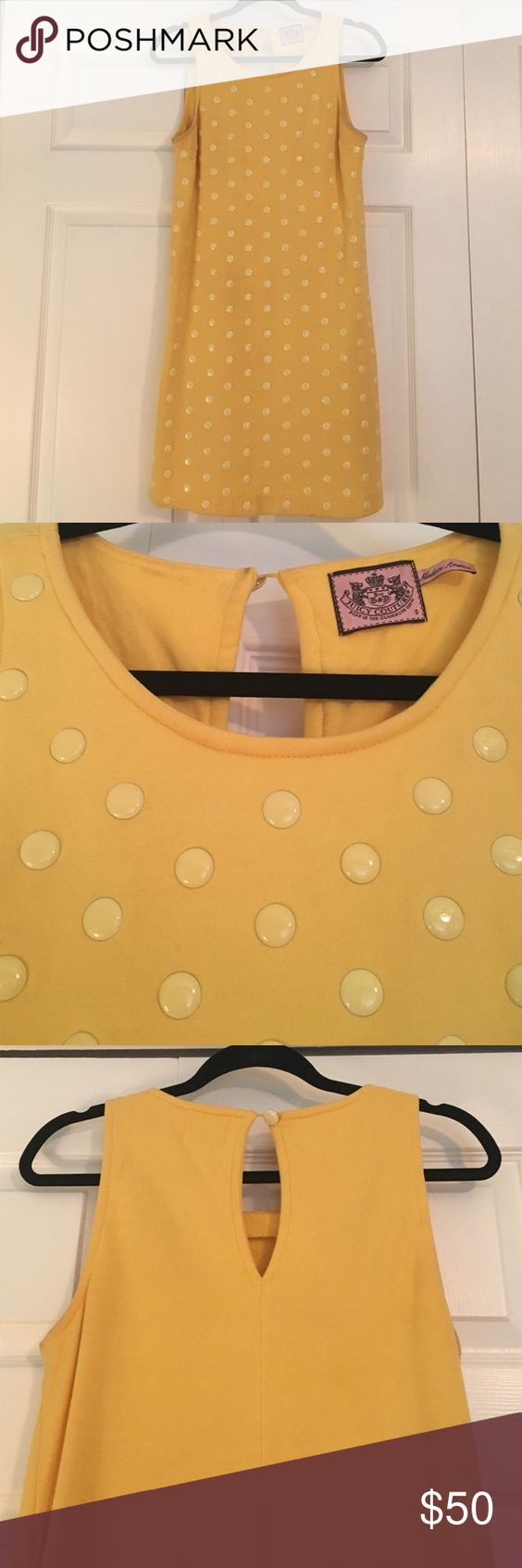 Yellow Juicy Couture Shift Dress Adorable dress with pockets. Has some discoloration in the armpit area but it's not noticeable when worn. Juicy Couture Dresses Mini