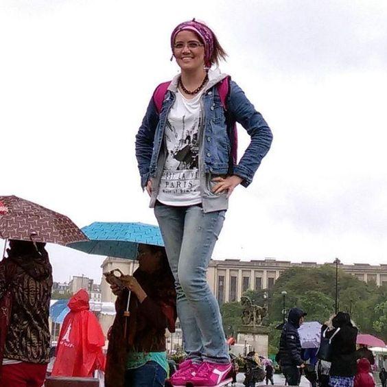 Gezmek ruhu güzellestirir derler #tbt#eiffeltower#beneluxparis by canan_saylam Eiffel_Tower #France