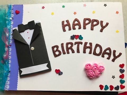 Diy Cutest Birthday Scrapbook Card Idea Easy Card Idea
