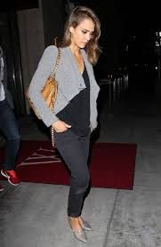 jessica alba d'orsay flats outfit - Google Search