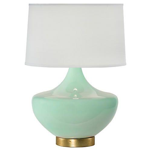 Palmetto Table Lamp Sea Glass Table Lamp Lamp Green Lamp