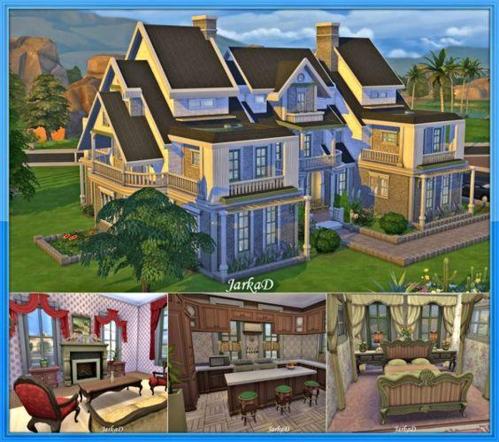 Custom Houses Sims 4 Jarkad Sims 4 Family House