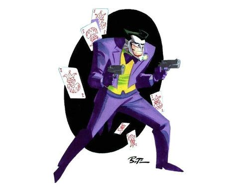 Art Of Batman The Animated Series Joker Art Bruce Timm Dc