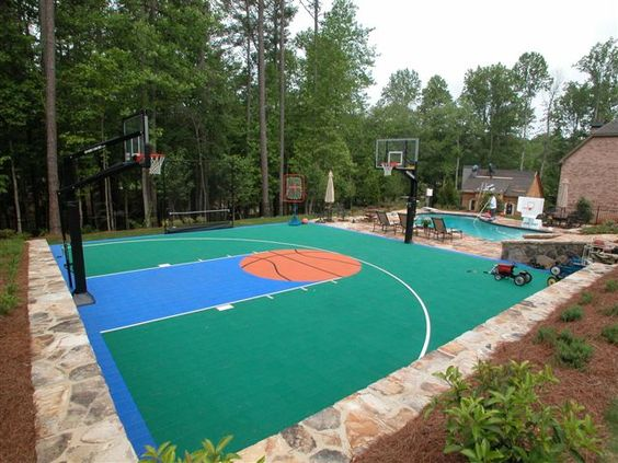 Basketball court would love to have someone come over and for Backyard sports court