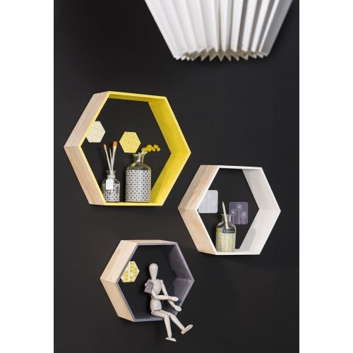 yellow and grey etag res hexagonales diy pinterest. Black Bedroom Furniture Sets. Home Design Ideas