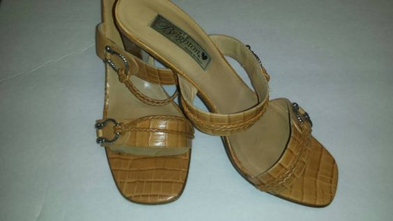 Check out this item in my Etsy shop https://www.etsy.com/listing/236618085/brighton-sandal-heels-moc-croc-camel