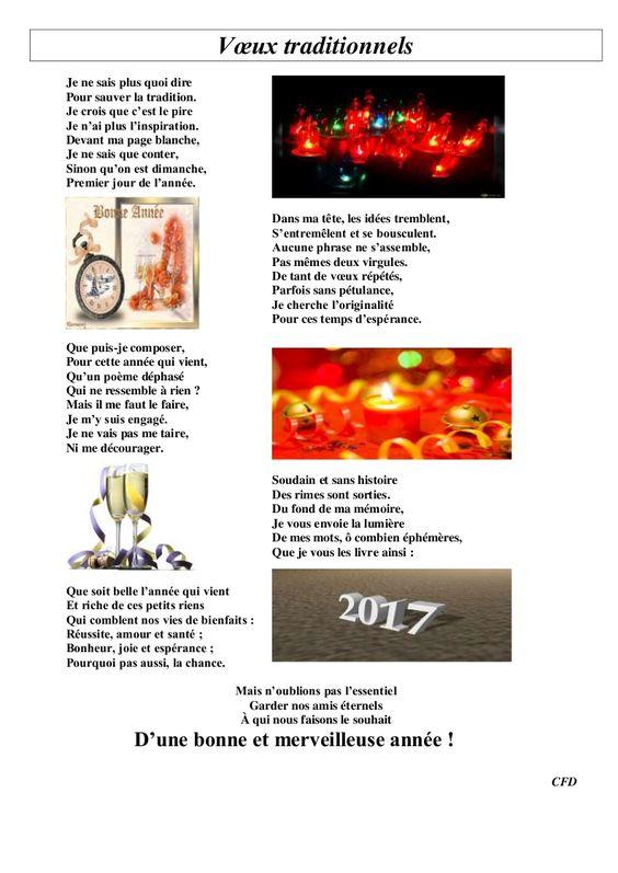Nouvel article depuis le site littéraire Plume de Poète - bonne annee - Claire FASCE-DALMAS