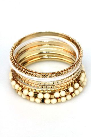 to bead or not to bead bangles in white