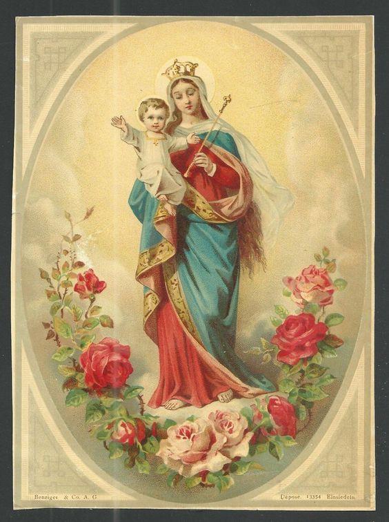 ¡Salve, Oh Rosal, de donde floreció la Única Rosa Inmarcesible! ¡Salve, Tú, que pariste la Manzana Perfumada! ¡Salve, Oh Virgen que no contrajiste nupcias! ¡Fragancia del Rey de todos y Preservador del mundo!