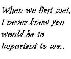 i never knew