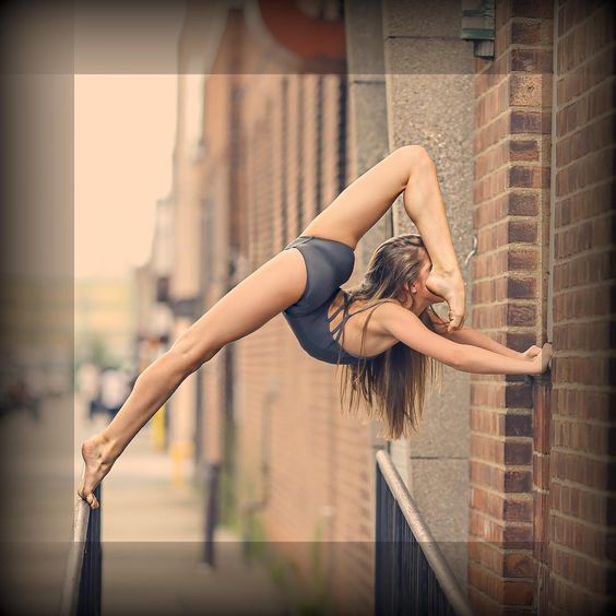 Tate Mcrae can do this. Is this a yoga pose? It's awesome anyway.