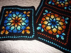 Stained Glass Crochet Blanket Square | by MyDailyFiber