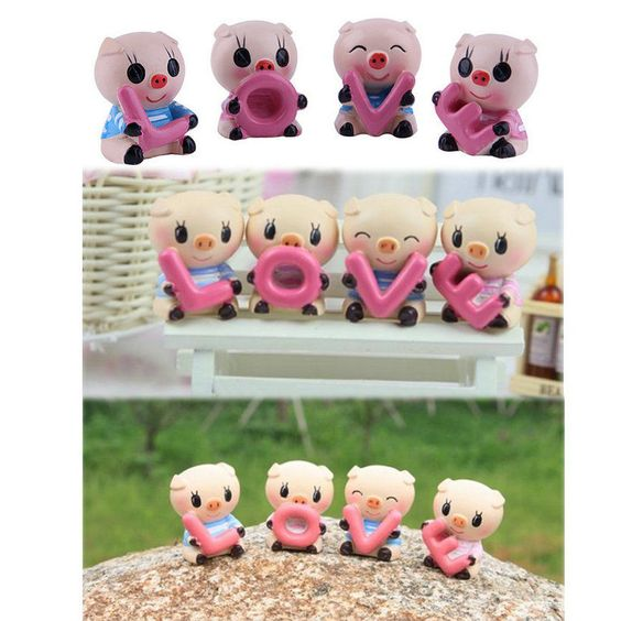4 pcs set cute auto car interior resin pig love lovely Ebay home interior pictures