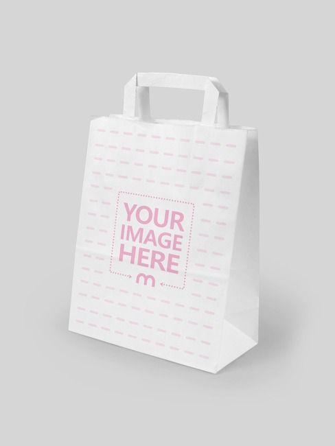Download Make Realistic Bag Mockup Using This Template Featuring A Blank White Paper Shopping Bag On A Solid Color Background Bag Mockup Paper Mockup Paper