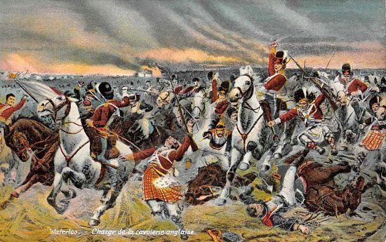 Charge De La Cavalerie Anglaise Lors De La Bataille De Waterloo In 2020