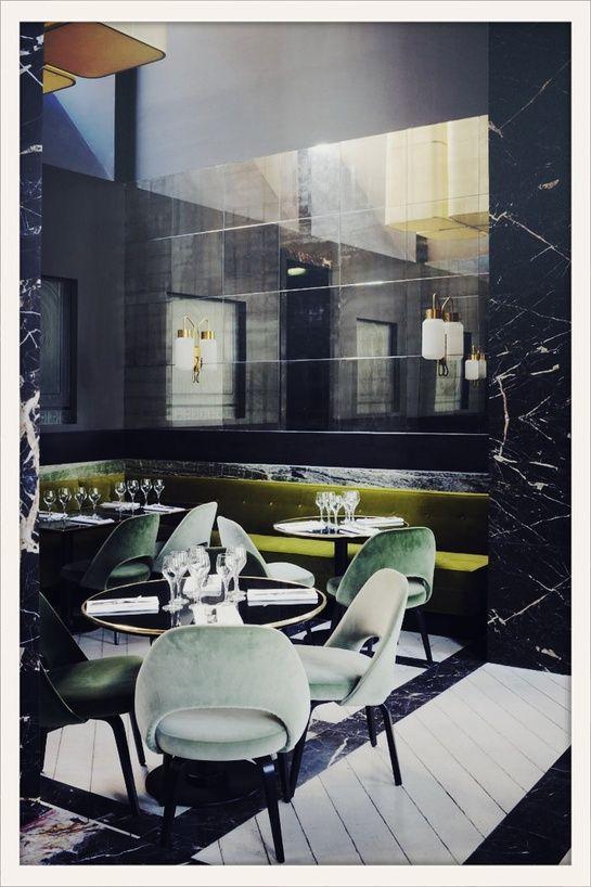 Monsieur Bleu Palais de Tokyo /the neo-Dandy, Art Deco-inspired space was custom created by architect Joseph Dirand.