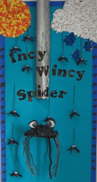 Incy Wincy Spider classroom display photo - Photo gallery - SparkleBox