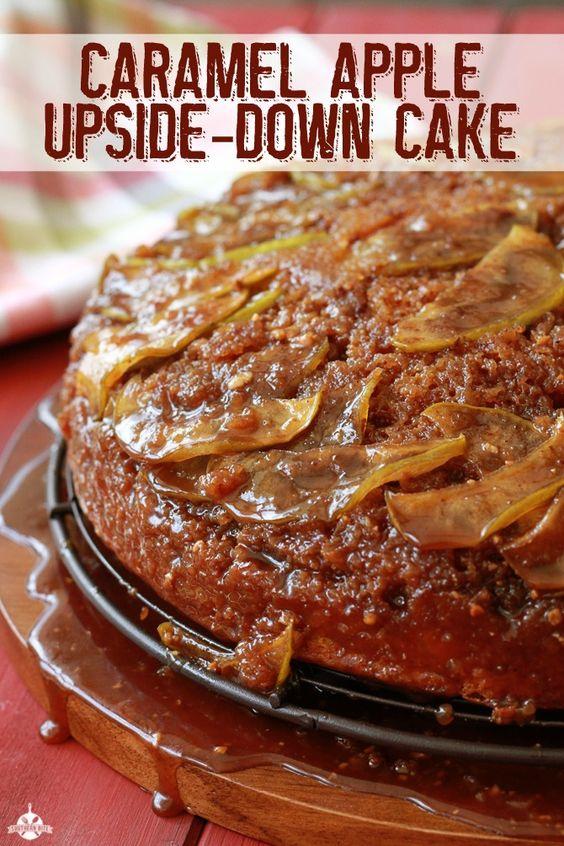 Apple Upside-Down Cake | Recipe | Caramel Apple Cakes, Apple Cakes ...