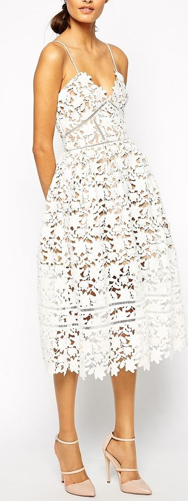 Look the part as your dear friends celebrate the coming of your special day with this elegant bridal shower dress.