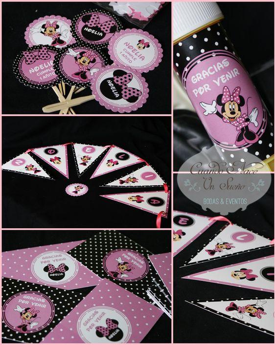 Kits de fiesta de cumplea os kit de minnie decoraci n - Cosas de minnie para cumpleanos ...