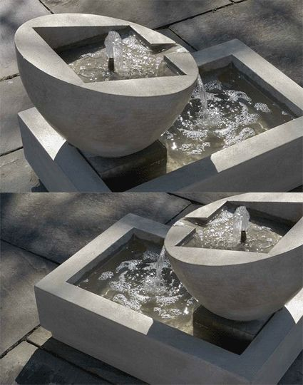 Modern Art Water Fountain - this is on my DIY project list this Summer, want to make this out of concrete.