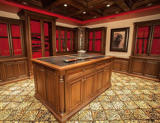 Gun rooms home custom gun cabinets vault room for Home vault room