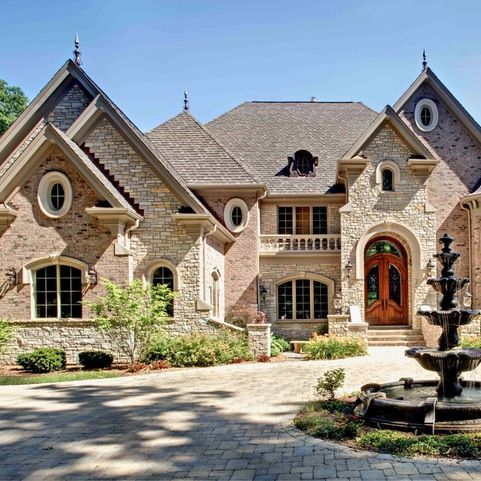 Red brick and limestone house design ideas pictures for Brick elevation design