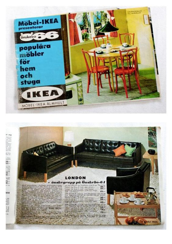 Reissued Time Capsule: Ikea Catalogue, 1965     'The IKEA Catalogue is published annually by the Swedish home furnishing retailer, IKEA. First published in Swedish in 1951, the catalogue prints approximately 175 million copies worldwide annually, more than 3 times as much as The Bible.'     - Wikipedia