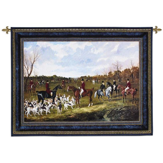 The Meet of the East Suffolk Hounds at Chippenham Park Wall Tapestry