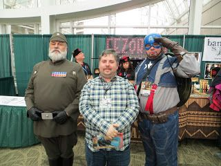 Picture of me at the comic con (I was posing with Captain America and an imperial moff from Star Wars).: