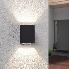 Doppelt strahlende LED-Außenwandleuchte Nikolas