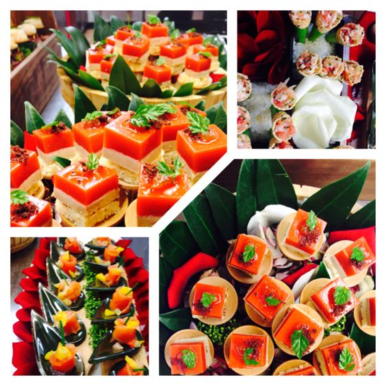 Deliciously colourful canapes..